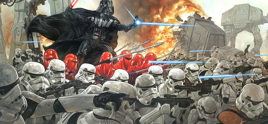The strong uniformity of the Storm Troopers makes the special members of the empire stand out even more and makes the rag tag team of rebel heroes feel even more diverse.