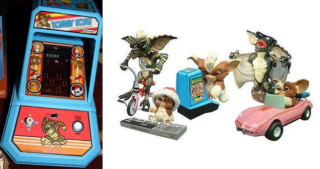 coleco mini-arcade and kotobukiya gremlins toys