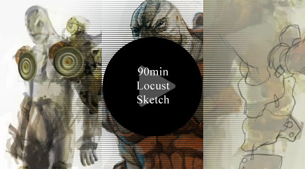 Video: 90min Locust Fan Sketch
