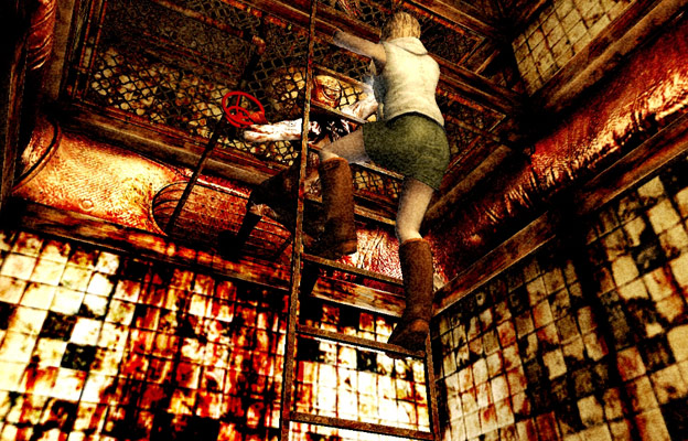 Silent Hill series uses texture switches to cleverly create dirty icky color schemes that are designed to make the player uncomfortable and create an atmosphere of danger and decay.