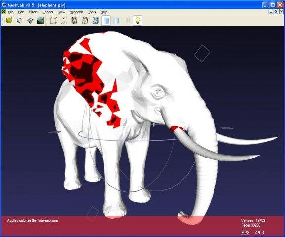 Handy free 3D model editor – Meshlab