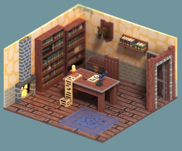 voxel design fantasy assets