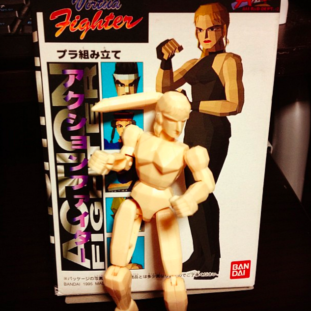 virtua fighter low poly figure