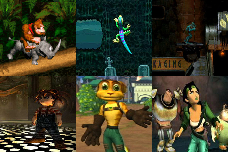 donkey-kong-country-gex-oddworld-evil-twin-ratchet-and-clank-beyond-good-and-evil