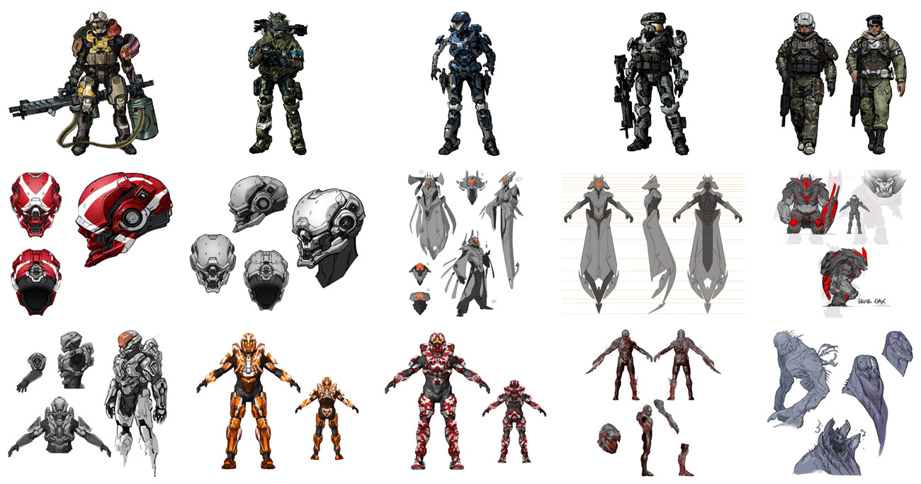 concept art drawing halo series