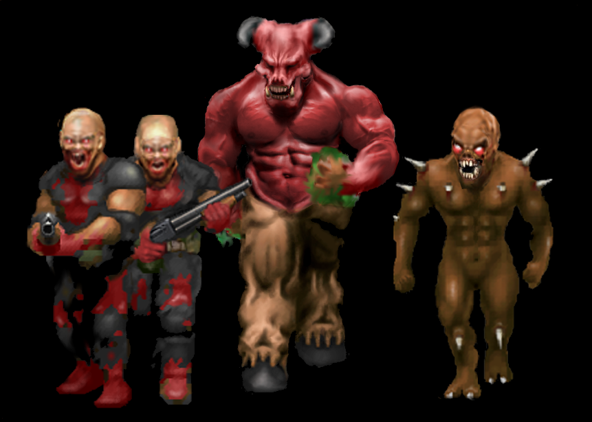 doom remake hd sprites