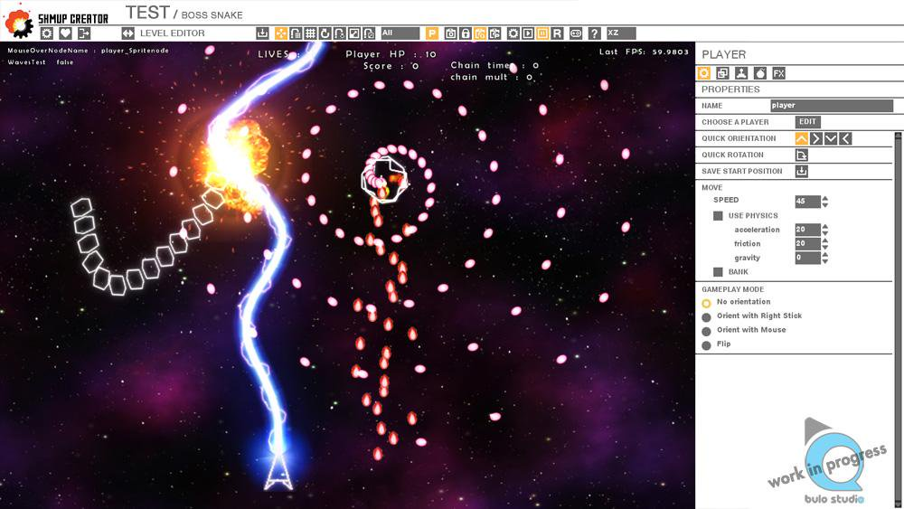 make bullet hell games