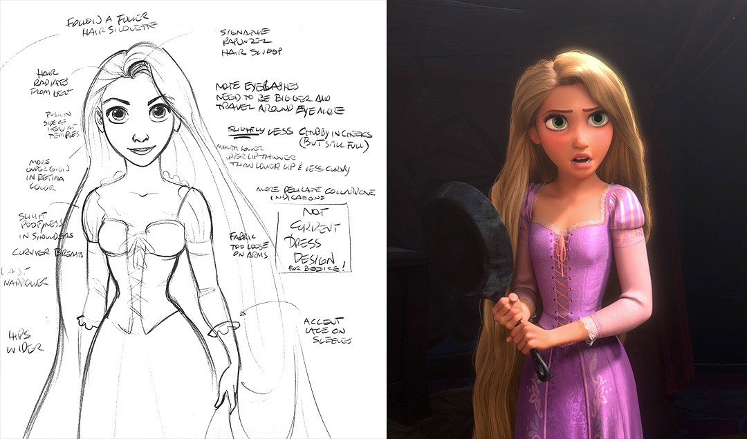 sketch versus 3d rendering