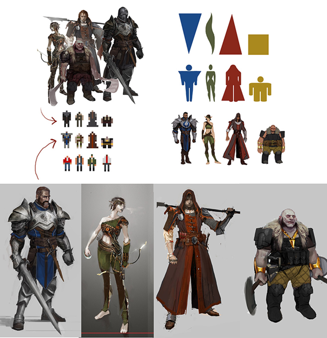 concept art shapes and colors
