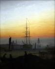 008C._D._Friedrich_-_Greifswald_Harbour
