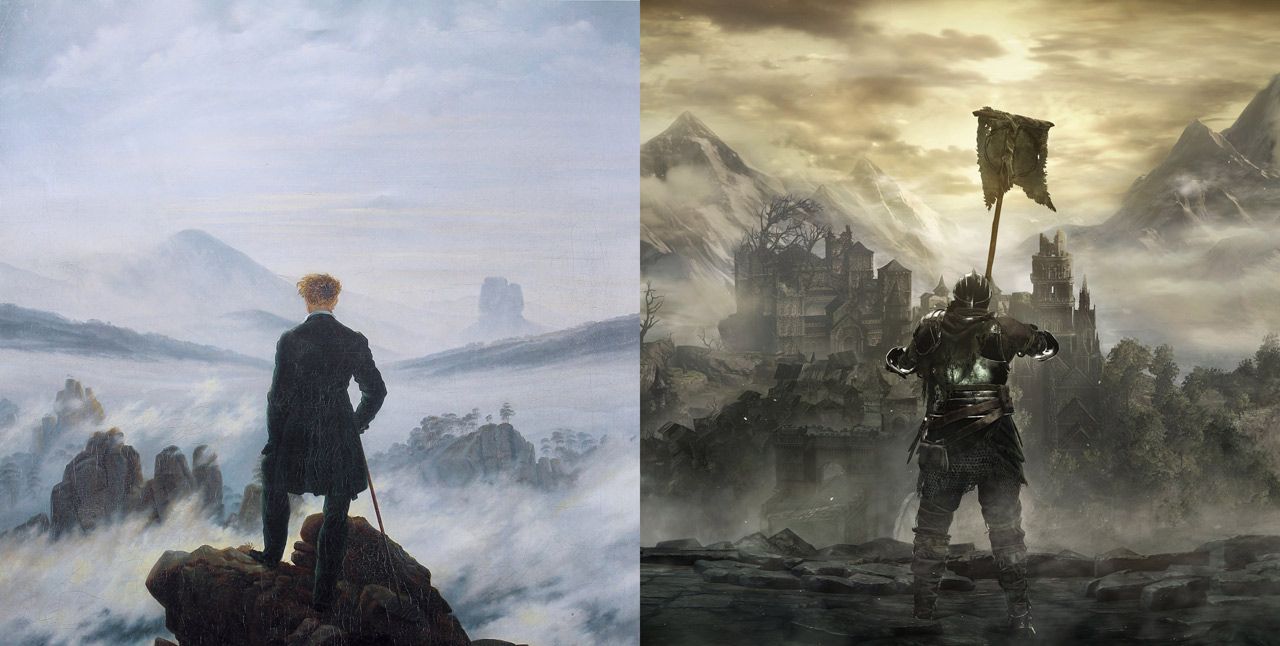 caspar david friedrich, romanticism and games