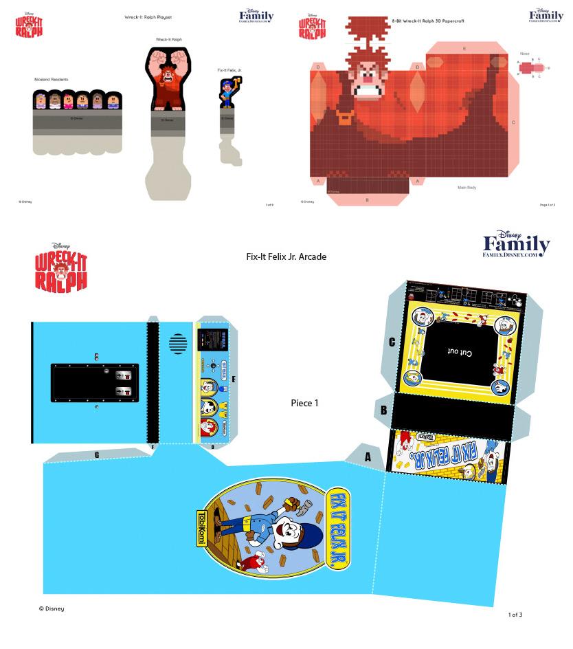 paper arcade templates