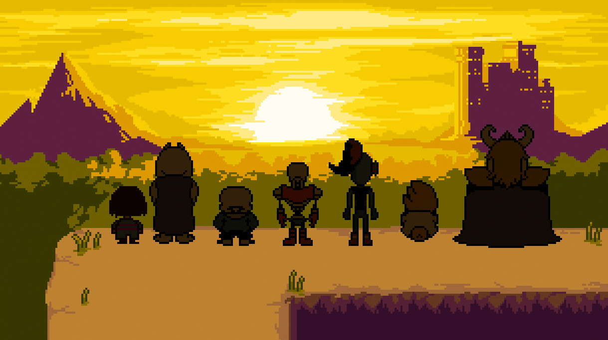 undertale ending art